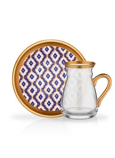 Glore Glore Nihavent Contes 6'Lı Kulplu Çay Seti Renkli
